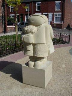 Mark Disley's statue in Florist Corner
