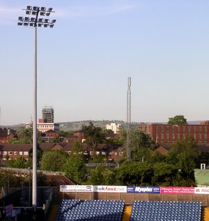St Thomas from the Edgeley Park Stands