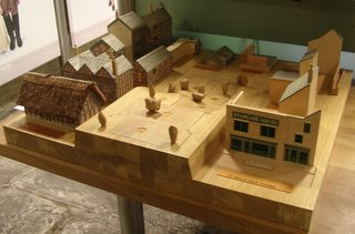 Interactive wooden model of Staircase House