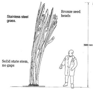 illustration of 3.9m statue
