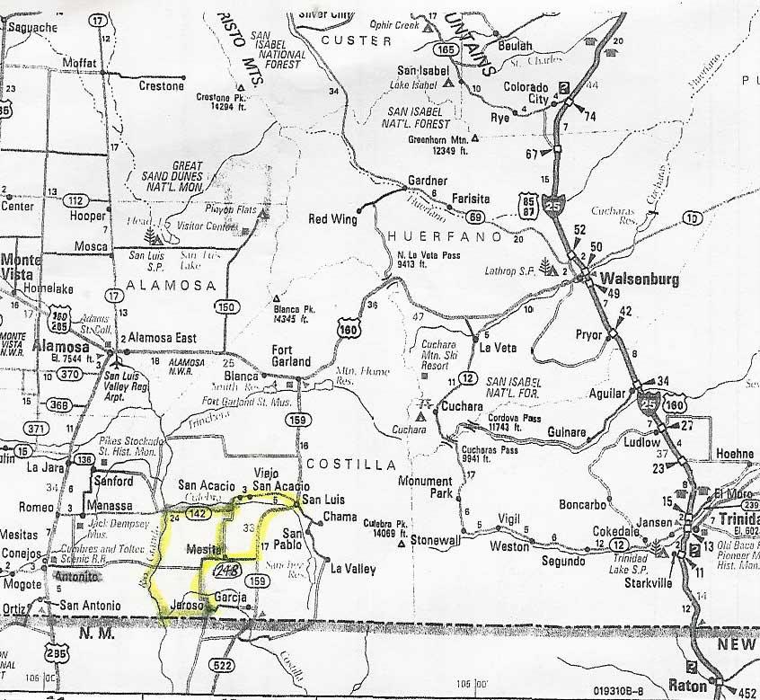 Colorado Land For Sale Land For Sale In Colorado By Rio Grande River - Colorado highways map