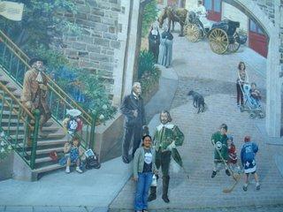mural at old quebec
