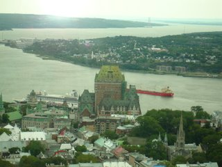 old quebec, with le chataeu frontenac in the middle of it all