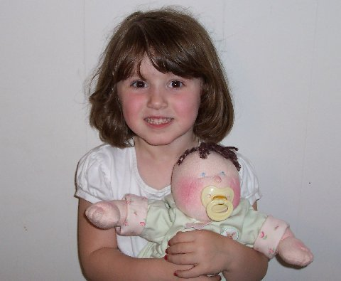 dinky baby, 14 inch soft cloth doll pattern, free shipping picture