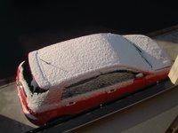 雪の朝 アレックスの屋根