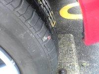 タイヤの修理跡
