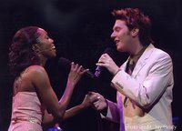 Clay duetting with Heather Headley at Broadway Cares