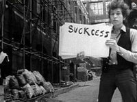 Still from Subterranean Homesick Blues video