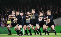 The All Blacks demonstrate this year's must-have haka fashion accessory
