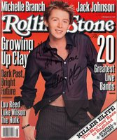 My signed copy of Clay's Rolling Stone cover