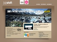 Shift website homepage.