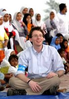 Clay representing UNICEF in Banda Aceh