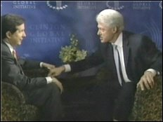 Screenshot of Clinton interview. 