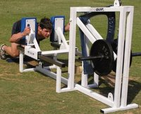 The ScrumTruk rugby strength builder incorporating QuadTorq technology