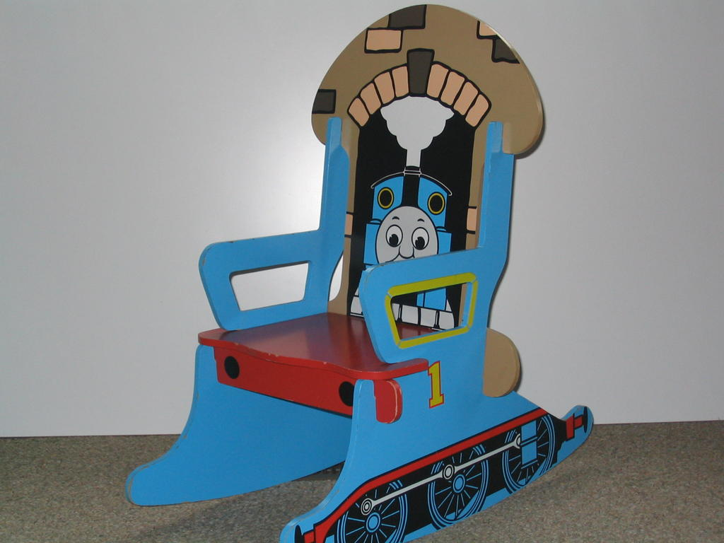 the thomas train depot thomas the tank rocking chair. Black Bedroom Furniture Sets. Home Design Ideas