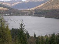 view of Scottish loch and hillside