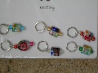6 beaded stitch markers