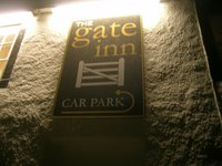 photograph of pub sign, The Gate Inn