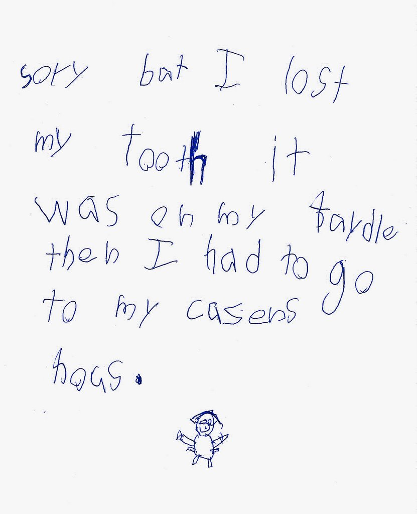 Tooth Fairy Letter First Tooth Lost
