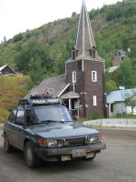 Saab 900 in Telegraph Creek, BC