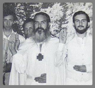 Venerable Sat Arhat Maestro Lic. Domingo Dias Porta junto al Venerable Zahir GG::, 1978 - Guayaquil, Ecuador.
