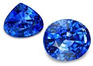 Zafiros azules facetados