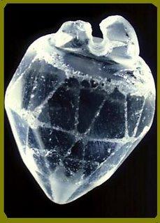 Cristal en forma de Corazon.