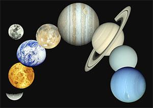 Planetas del Sistema Solar como se los conoce hasta ahora...