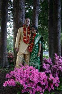 Sarojini y Luis en su matrimonio.