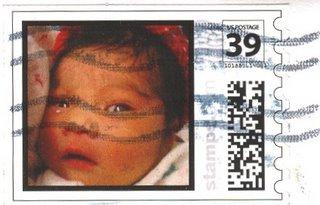 weird baby stamp