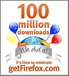Firefox 下載量突破一億次