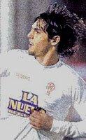 Huracán: Joaquín Larribey festeja su gol ante Rafaela