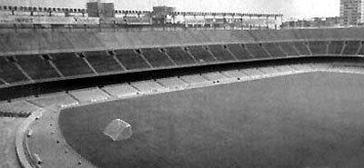 Camp Nou de Barcelona previo a la remodelación para el Mundial 1982