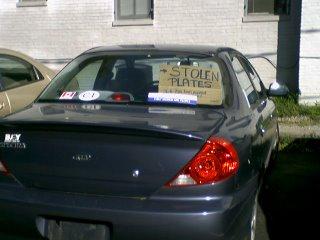 yep, someone stole my license plates
