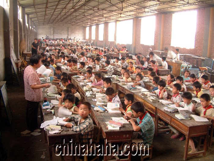 Sala de aulas na China