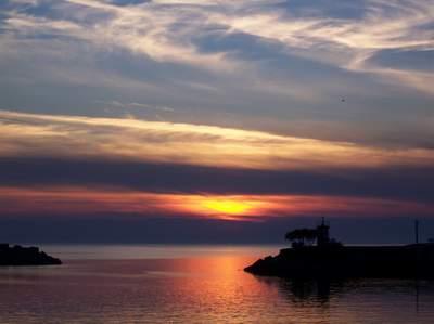Kefken'de güneşin batışı
