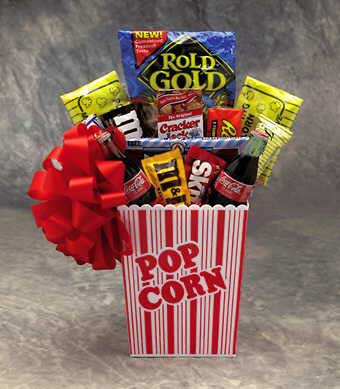 our popcorn pack is a great gift basket for those movie lovers who like to watch movies in the comfort of their own home or for anyone who just enjoys great