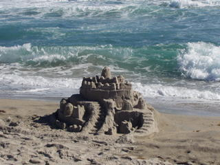 A sandcastle in Boca Raton, FL. Dec 2004