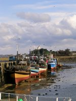 Roscoff, boats, bretagne, low tide