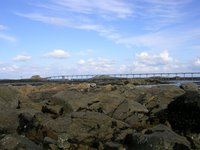 Roscoff, France, bridge to nowhere