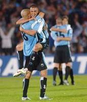 Uruguay football celebration