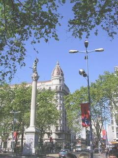 Uruguays's downtown sights, plaza cagancha