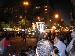 Uruguay's carnival, parade in 18 de julio