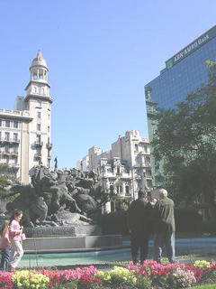 Uruguays's downtown sights, plaza entrevero
