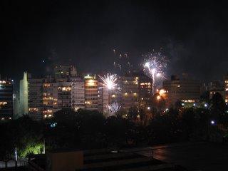 Christmas fireworks uruguay