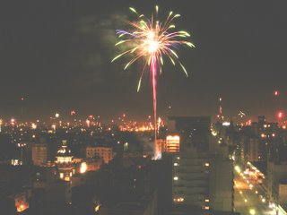 Christmas fireworks Montevideo