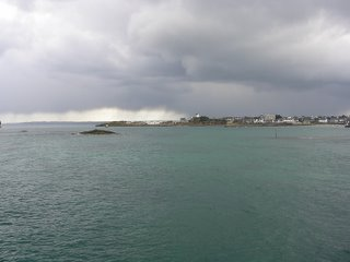 Roscoff, house on a hill, on stormy weather