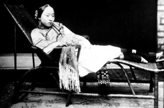 Ancient Chinese Woman with Footbinding