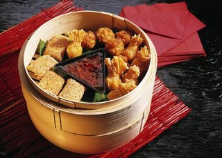 Chinese Dim Sum In Basket Streamer