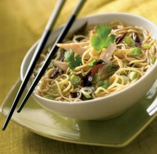 Chinese Egg Noodle Soup With Chicken